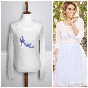 Lauren Conrad CINDERELLA Glass Slipper Sweater! S